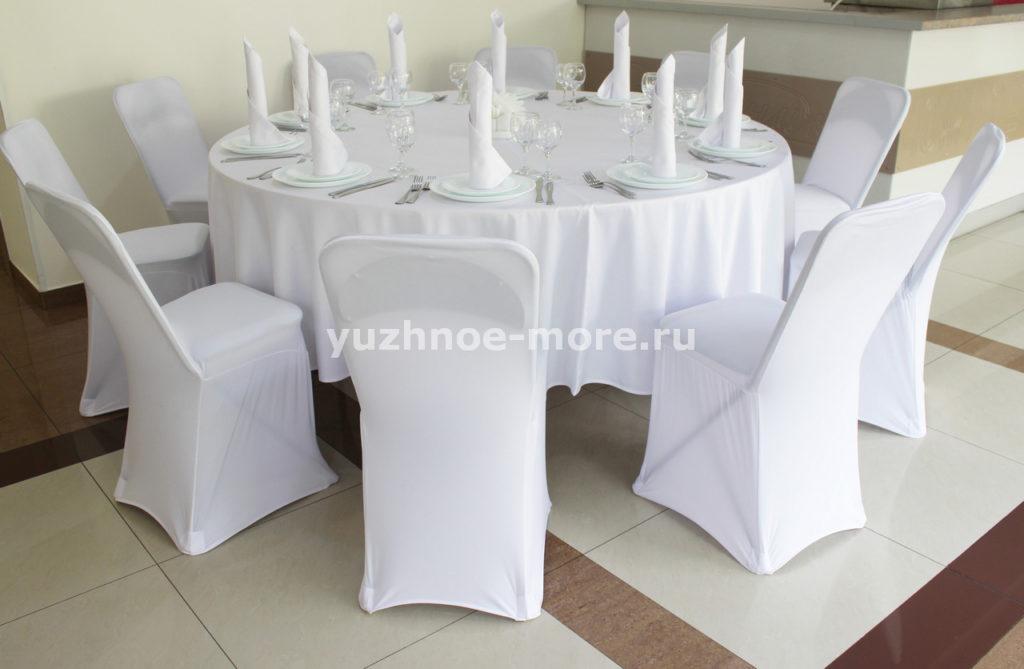 стол банкетный с сервировкой на 10 персон (1)